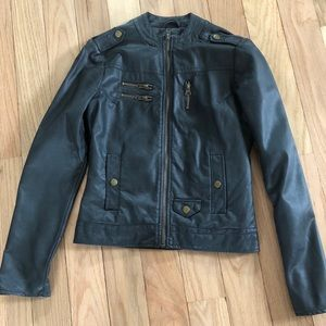 Pink Envelope faux leather jacket size S